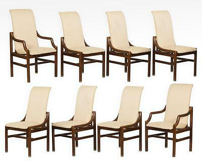 Henredon Dining Room Chairs Set Eight Mid-Century Modern