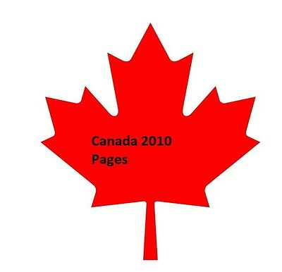 Canada 2010 stamp album pages 16 pages, FREE shipping