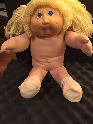 "1985 CABBAGE PATCH DOLL 16"" Blonde Hair SIGNED XAVIER ROBERTS"
