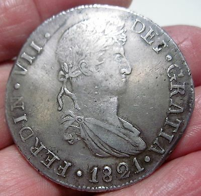 1821 CG (DURANGO) 8 REALES (MEXICO) --WAR of INDEPENDENCE-- very scarce--