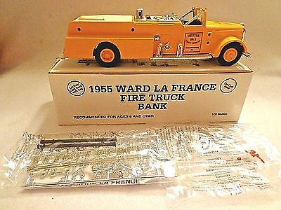 Ertl 1955 Yellow Fire Truck Bank-Ward La France-Diecast Metal-Scale 1/30-Nib-Usa