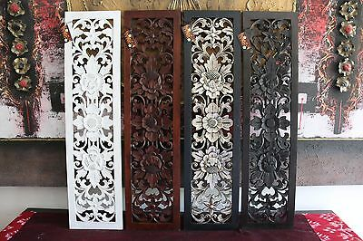 NEW Balinese Carved MDF/Wood Wall Panels - Bali Wall Art - 4 Colours Available