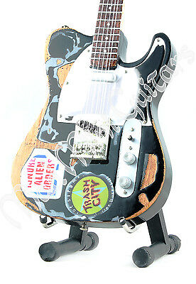 Miniature Guitar JOE STRUMMER with free stand. THE CLASH