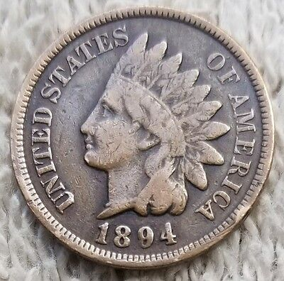 1894 Indian Head Penny in good condition  Indian Head cent