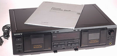 Vintage Sony TC-WE435 Dual Double Auto Reverse Synchro Recording Tape Deck