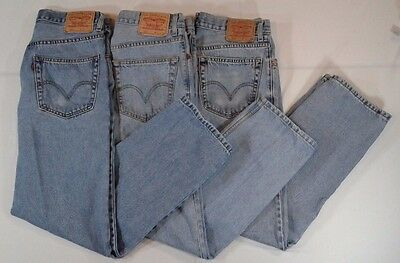 "LEVI'S 505 & 550 Jeans *3 PAIR LOT* Men's 32""X32"" Relaxed Fit Straight Leg EUC!"