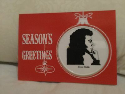 Johnny Mathis Christmas Ornament On Original Card