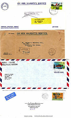 (4) FOREIGN COVERS: Mixed Lot 1960-1990  #10 envelopes  [6-44