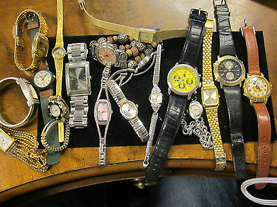 men's and ladies watches watchbands lot  parts repair art crafts as is no return