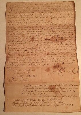 1770 Land Deed Transfer From John Lawson to Son Captain Thomas Lawson Union CT