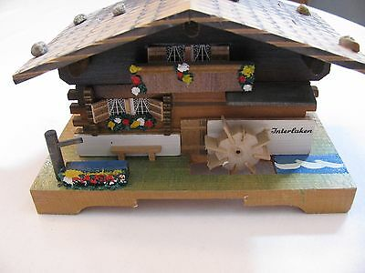 VINTAGE CUENDET SWISS CHALET MUSIC BOX - 18303 plays EDELWEISS - FREE SHIPPING