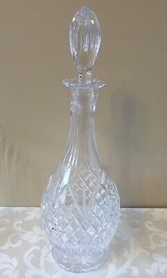 Vintage Tall Long Neck Cut Crystal Wine Liquor Display Decanter