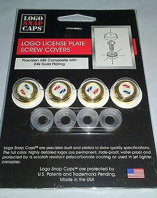 Buick Logo Snap Caps License Plate Screw Covers 24K Gold Plated