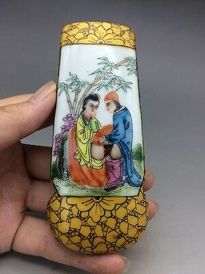 Chinese pottery and porcelain snuff bottle hand-painted men & women