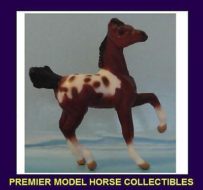 Breyer Mini Whinnie PRANCING FOAL Bay Extended Blanket Appaloosa of PonyGals7152
