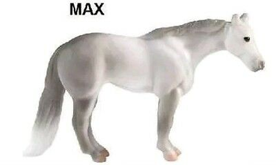 Breyer Mini Whinnie MAX grey STANDING QH STALLION Surprise Bag, Sticker, Catalog