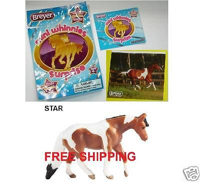 Breyer STAR Bay Pinto Quarter Horse Mare Blind Bag Mini Whinnie Sticker Catalog+