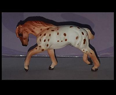 Breyer Mini Whinnie Chestnut Leopard Appaloosa PULLING DRAFT HORSE from 300114