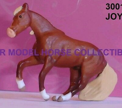 Breyer JOY QH Series 2 Mini Dapple Chestnut SLIDING STOP flaxen STALLION 2016