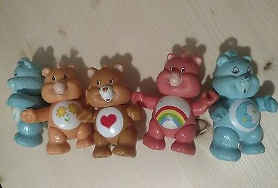 80s Vintage Care Bear figures BedTime Friend Cheer Bear and Tender Heart