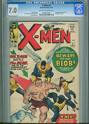 The X-Men #3 (Jan 1964, Marvel) CGC 7.0 ** 1st Appearance of the Blob **