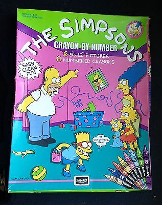 The Simpsons Crayon By Numbers MIB 1990 Bart Homer Lisa Maggie Marge TV show