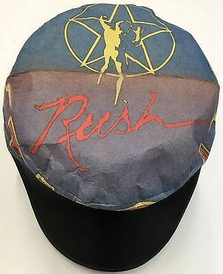 Vintage RUSH Painters Cap Hat Rock Band Concert Tour 2112 1980s NOS