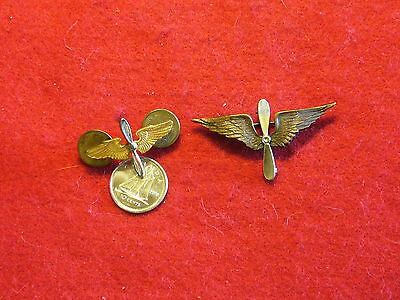 Original USA - WWII Non Matching Army Air Corps Collar Insignia