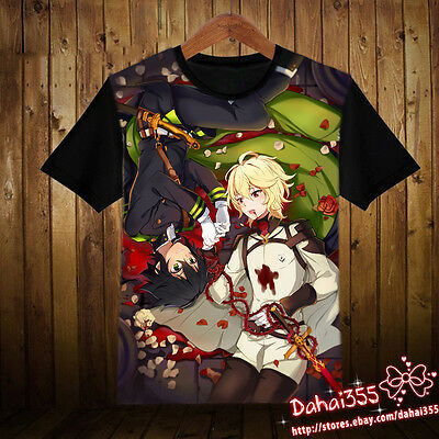 Anime Seraph of the end Cos Clothing Cool Unisex Short Sleeve T-Shirt Shirt#114