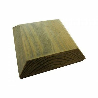 120mm Square Green Treated Wood Decking Fence Post Caps for 4 Inch posts