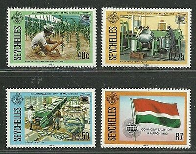 Seychelles 1983 Very Fine MNH Stamps Scott # 511-4 CV 1.85 $ Commonwealth Day