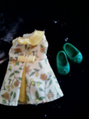 baby KELLY Chelsea Nikki Summer Yellow Floral Party DRESS clothes Green SHOES