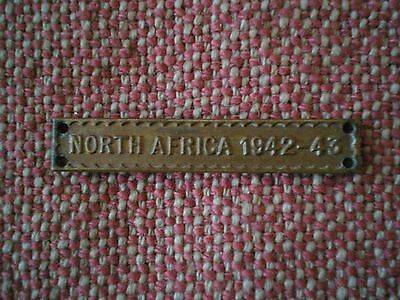Original British & Commonwealth NORTH AFRICA 1942 - 43 CLASP / BAR