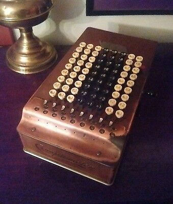 Antique Comptometer  Mechanical Calculator  1914 - Steampunk decor