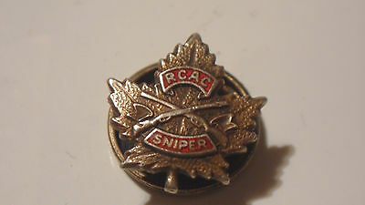 Vintage Rcac Sniper Pin ,super Rare ,sterling ,  Canada Army Badge , Looks Old