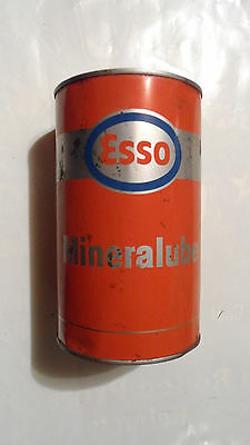 Vintage Esso Mineralube Oil Tin Can , One Quart , Unusual Colors