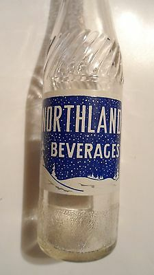 VINTAGE NORTHLAND SODA POP BOTTLE , VERY RARE , 10oz , FLIN FLON,  MB