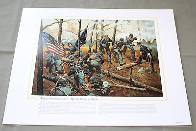 The National Guard Heritage Collectible Print Plenty Of Fighting Today Shiloh