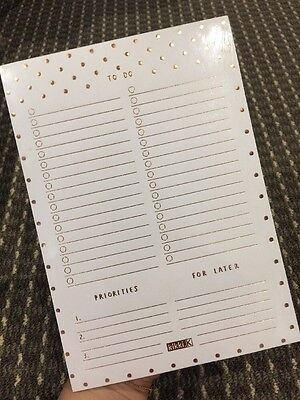 Kikki K Note Pad - A5 TO DO LIST Copper