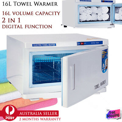 16L 2 in 1 UV Light Hot Towel Warmer Facial Spa Sterilizer Salon Cabinet Heater