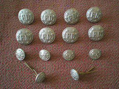 Obsolete Group of Vintage Canadian Fire Department Buttons by Gaunt