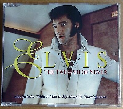 Elvis Presley - The Twelfth Of Never - Promo Cd - Australia