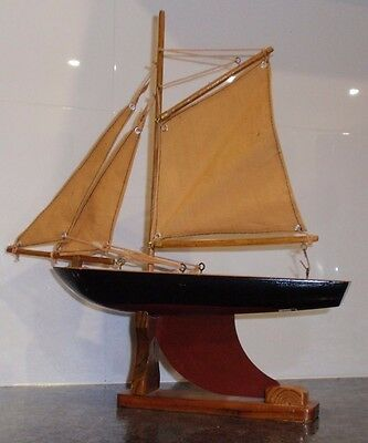 Ship Model Wooden Boat Gift Yacht Sailing Decor Scale Decoration 37cm