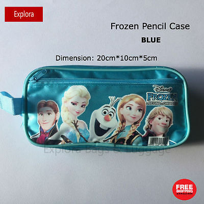 Disney Frozen Girls Pencil Case Stationary Organiser Bag --BLUE
