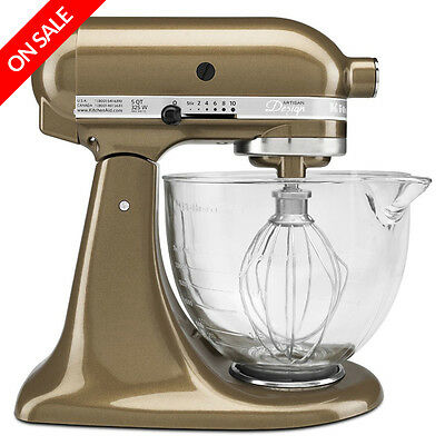 NEW KitchenAid Platinum KSM156 Toffee Stand Mixer