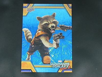 2017 UD Guardians of The Galaxy Vol. 2 BLUE FOIL RB-4 Rocket