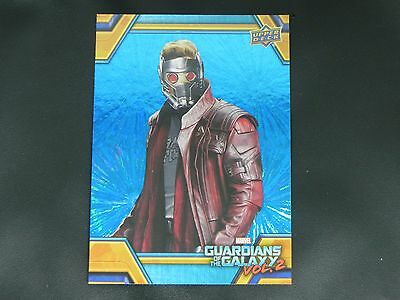 2017 UD Guardians of The Galaxy Vol. 2 BLUE FOIL RB-16 Star Lord