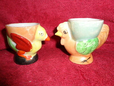 Collectable/vintage/retro Atomic Cosmic Chicken Rooster Egg Cups Two