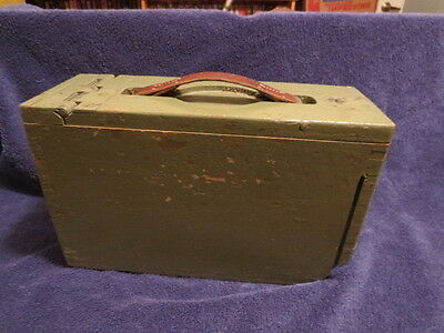 World War 1 WW1 Oak Wooden Ammo Box Militaria Ammunition