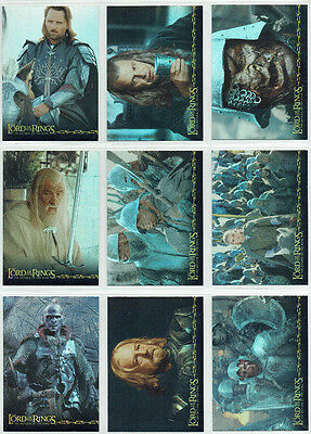 The Lord Of The Rings Return Of The King Prismatic 10 Card Foil Chase Set Topps
